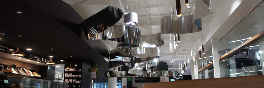 Impressive Stainless Steel Ribbon Graces New Brisbane Food Gallery